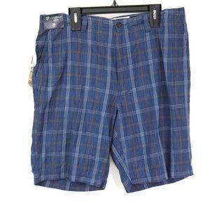 Surplus By Cremieux Mens Bermuda Shorts Blue Plaid